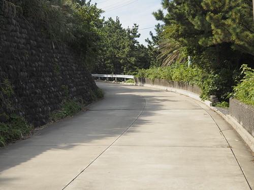 坂のカーブ