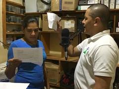 Recording radio spots in Nicaragua
