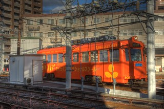 Hankai Tramway Co. at Abikomichi, Osaka on OCT 31, 2015 (6)