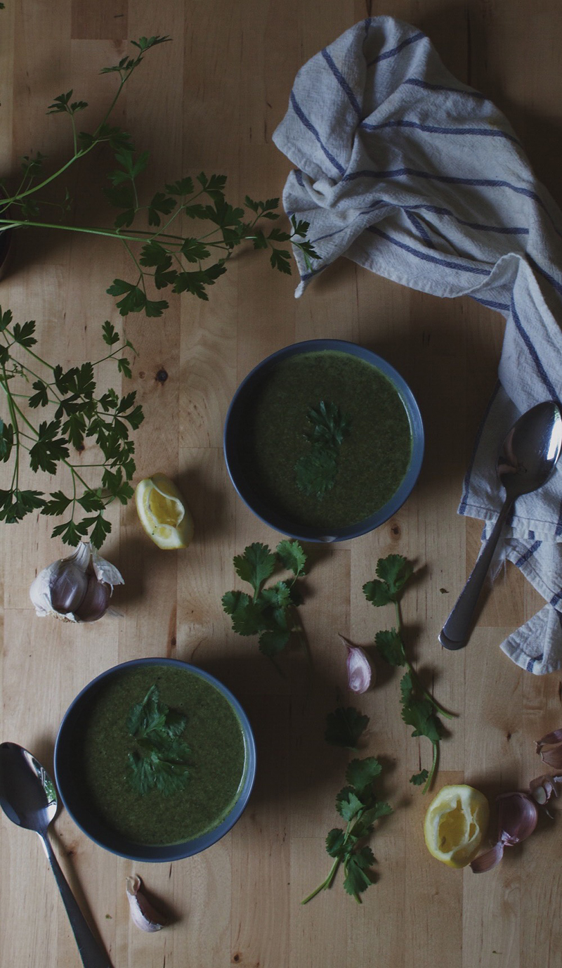 Cleansing Green Soup, Bramble and Thorn, Healthy, Recipe, Vegan