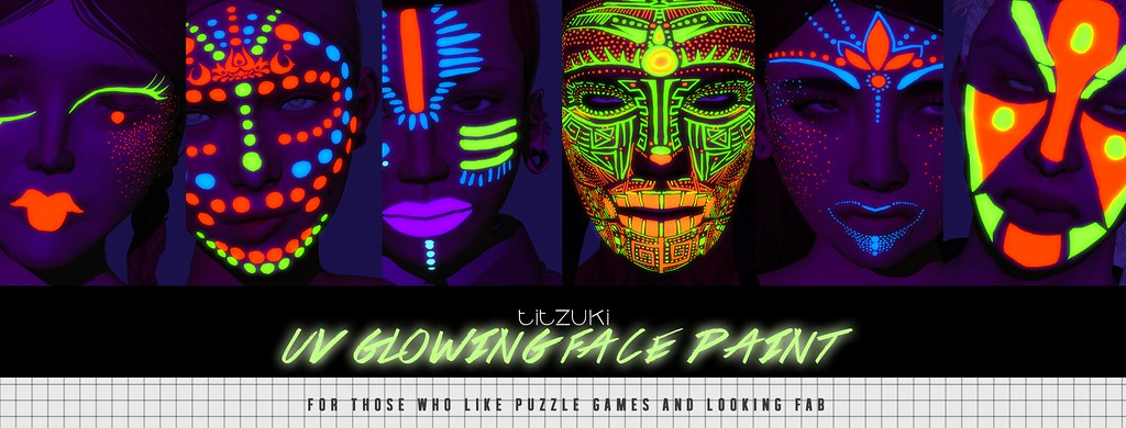OUT NOW titzuki : uv glowing face paints