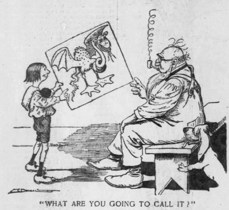 "Walt McDougall - The Salt Lake herald., June 29, 1902, ""What Are You Going To Call It?"""
