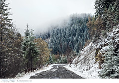 Snow in the mountains in Romania