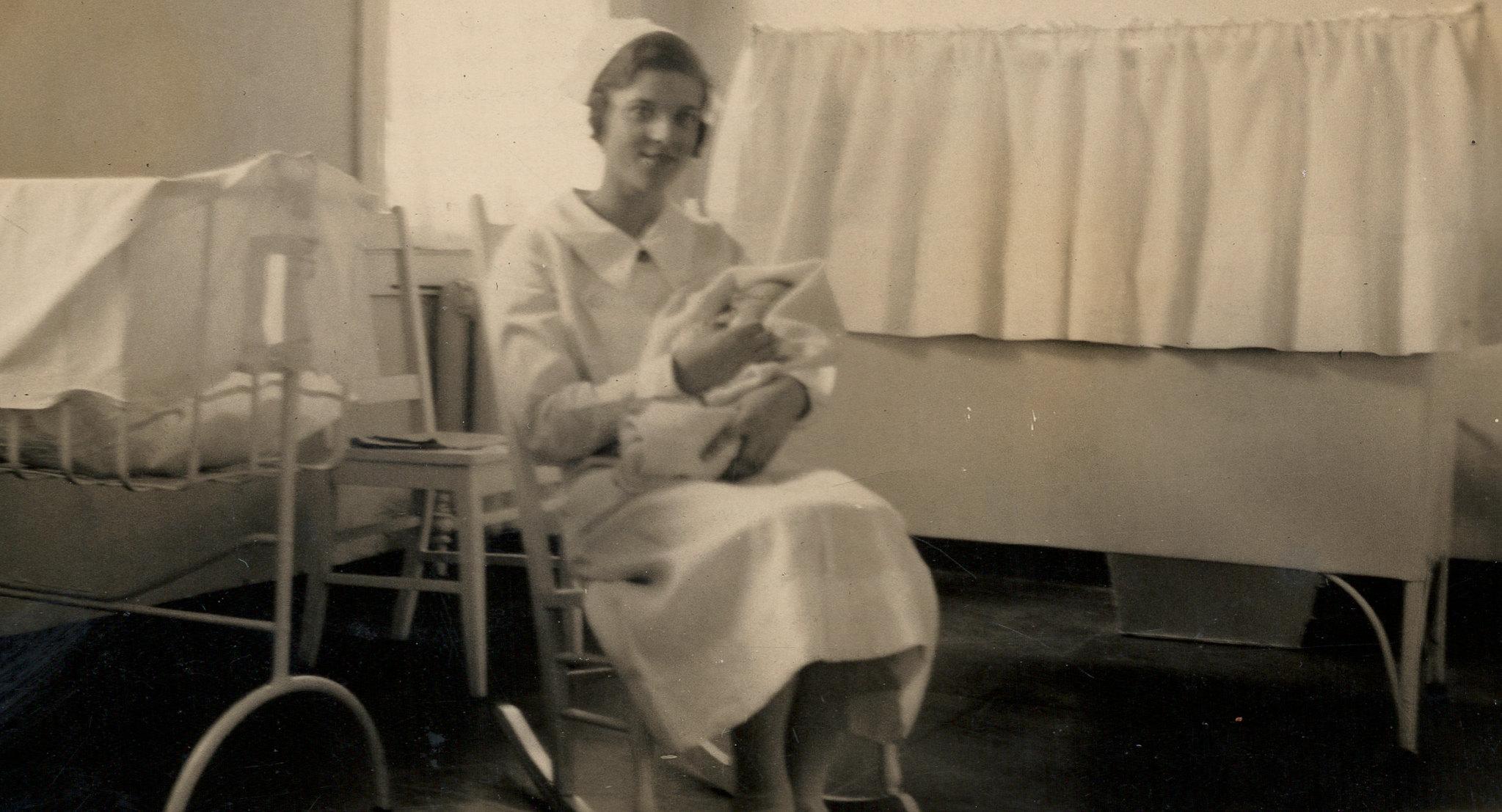 Lillian with Lockwood's Baby