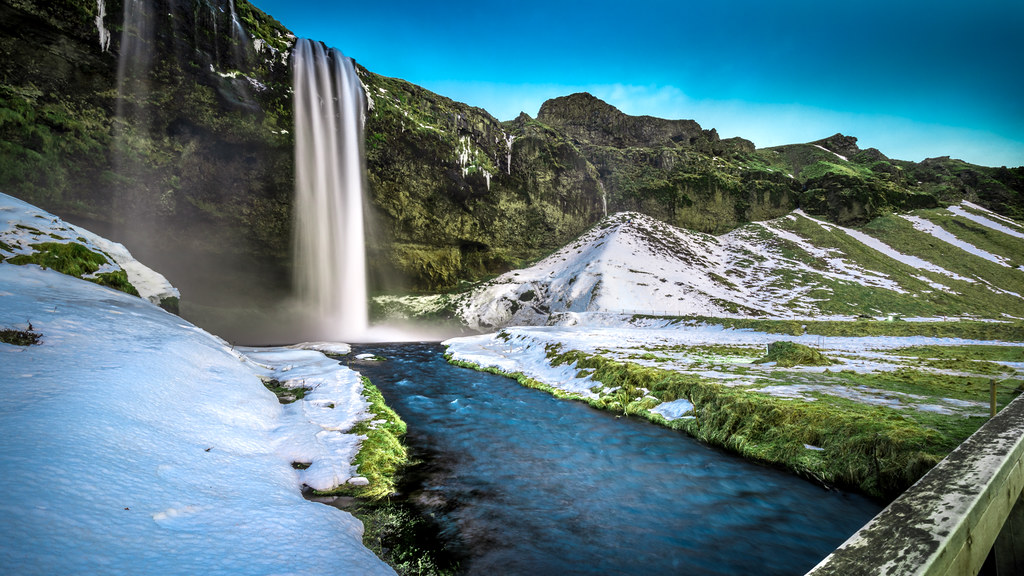 Seljalandsfoss Waterfall, Iceland picture