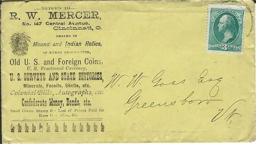 MERCER, RW 1879 letter