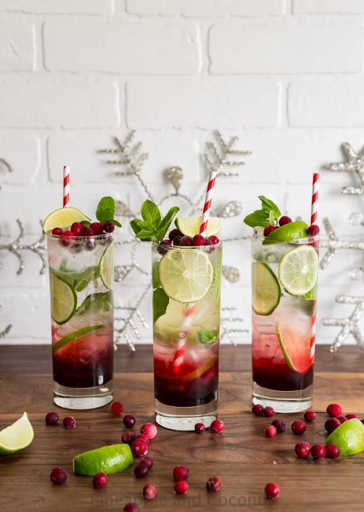 Spiced hibiscus cranberry mojitos for christmas week 2015 for Cocktail hibiscus