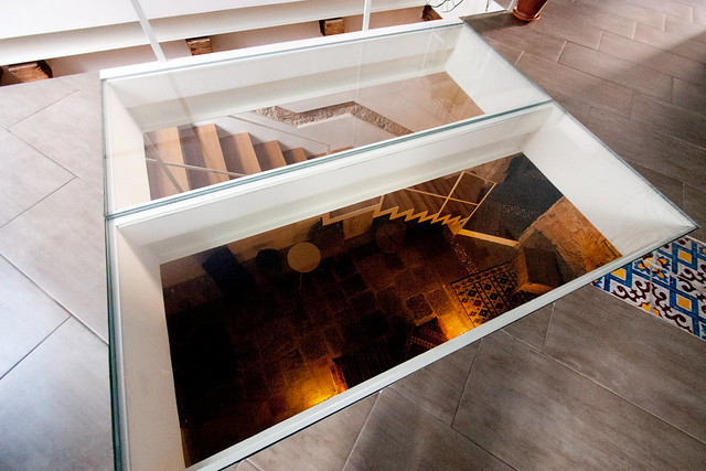 Glass floor of the Apparment
