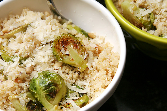 quinoa brussels sprouts pine nuts 6