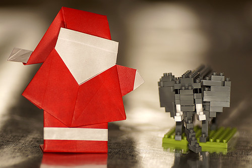 Origami Santa Claus with Large Hat (Hideo Komatsu)