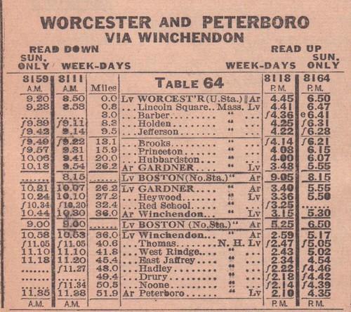 BandM 1943 Worcester Peterboro