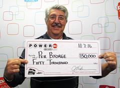 Per Bjorge - $50,000 Powerball