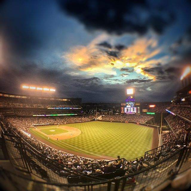 Another beautiful night in the Mile High City! Here's the sunset from Coors Field.