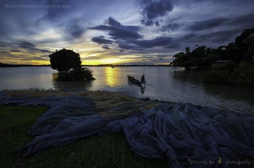 sunset summer india landscape assam chatla