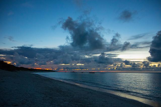 西浜(波照間島)の夕焼け
