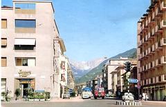 postcard - bolzano - via druso - 1965