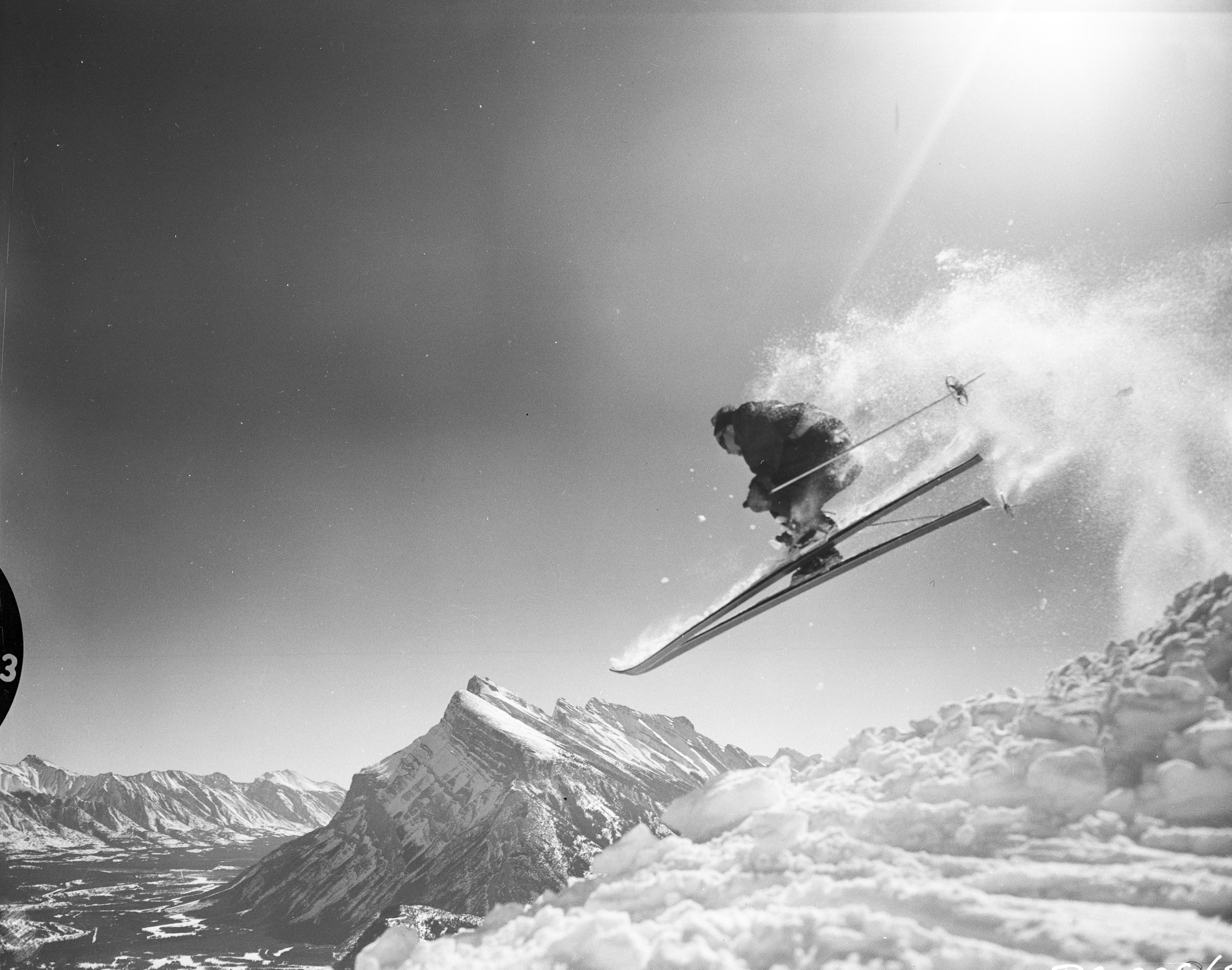 Skiing at Mt. Norquay