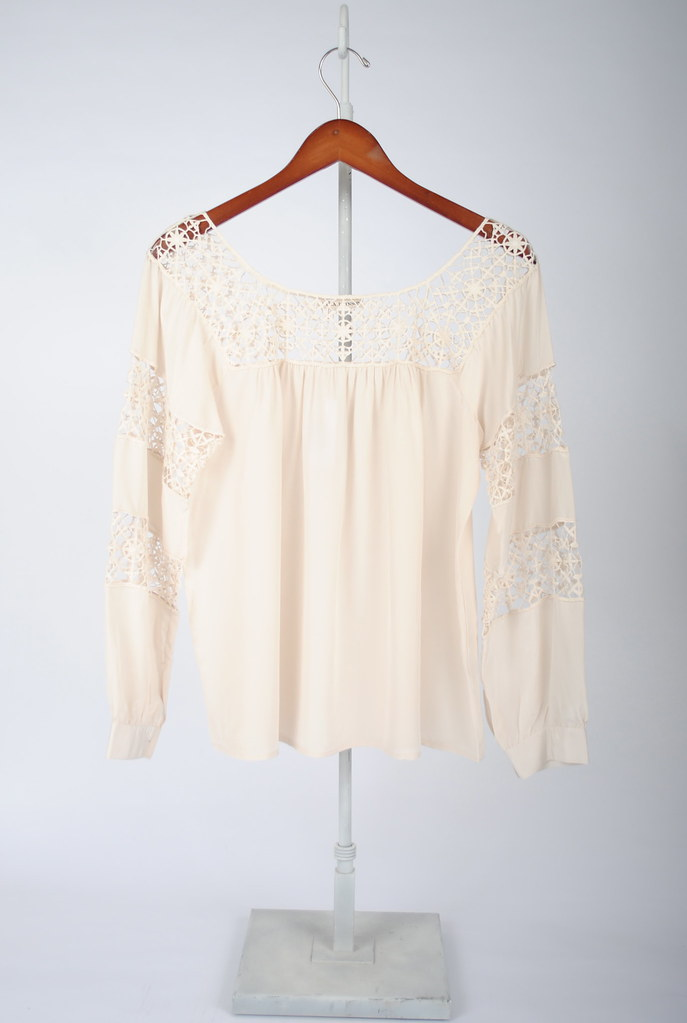 Claudelle Crochet Lace Top