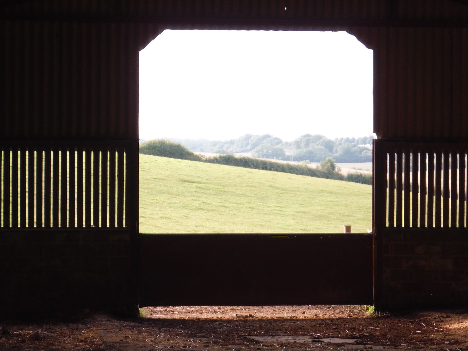 View through Barn, Chicksgrove SWC Walk 250 Tisbury Circular via Alvediston
