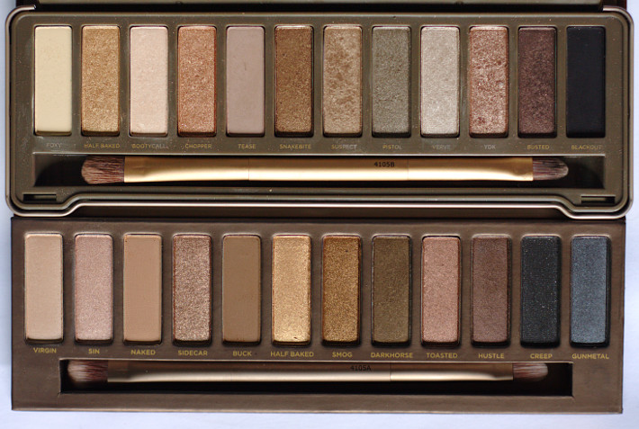 Urban Decay Naked 2 palette compared to Naked original