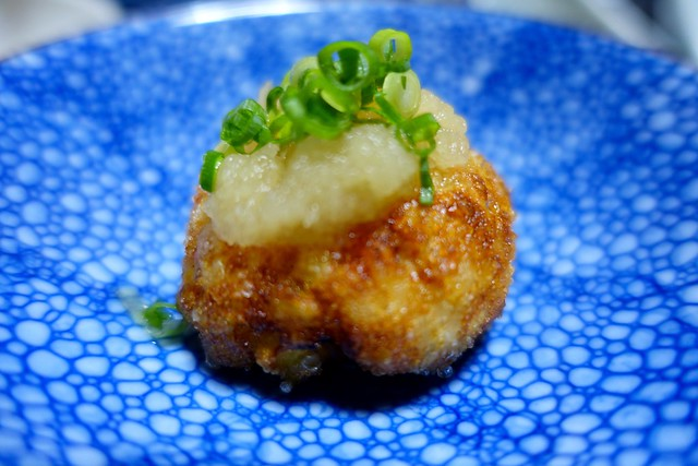 Photo:dinner:蟹、さつま芋、蓮根、魚のすり身の真丈 @『ひなの宿 ちとせ』(新潟県十日町市松之山) By TOMODA