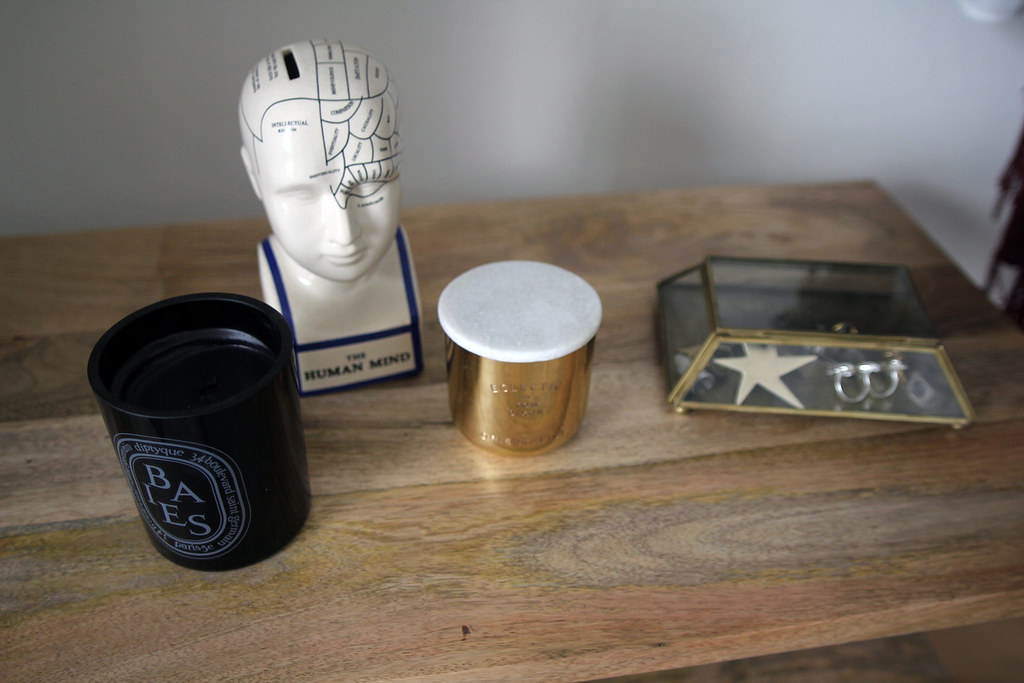 Urban Outfitters Home 4040 Locust Phrenology Piggy Bank Statue The Orientalist Candle, Diptyque Candle,