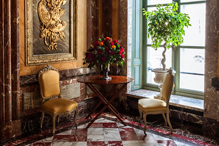Image of Egmont Palace. brussels roses classic window vintage chair furniture interior decoration palace bruselas deco egmont palacio