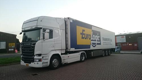 SCANIA R580 TOPLINE V8 Euro Logic TRANSPORT