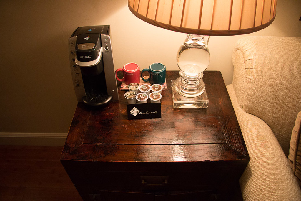 Coffee maker in suite