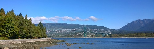 Lions Gate Bridge from the Stanley Park Sea Wall