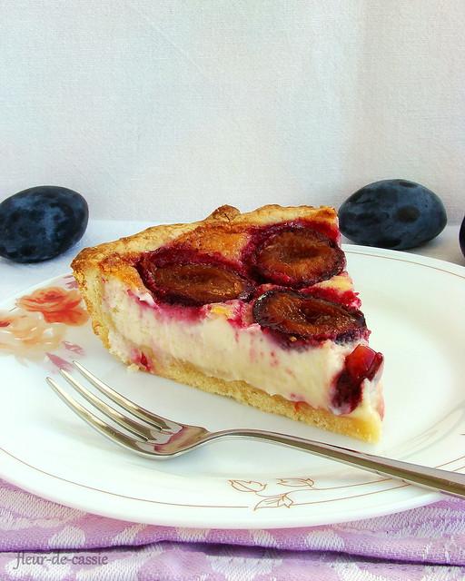 сливовый тарт с рикоттой 2