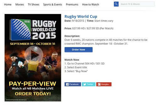 Rugby World Cup on Cox Cable #rwc2015