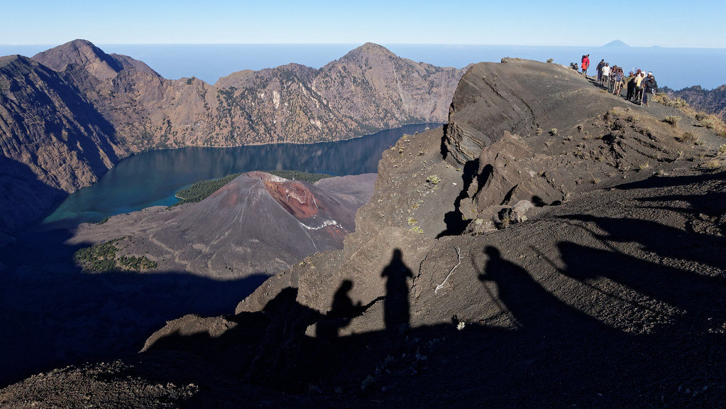 Approaching the Rinjani's summit