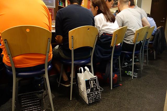 Baskets at the Okonomiyaki shop