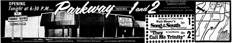 Detroit movie theatre grand opening ads