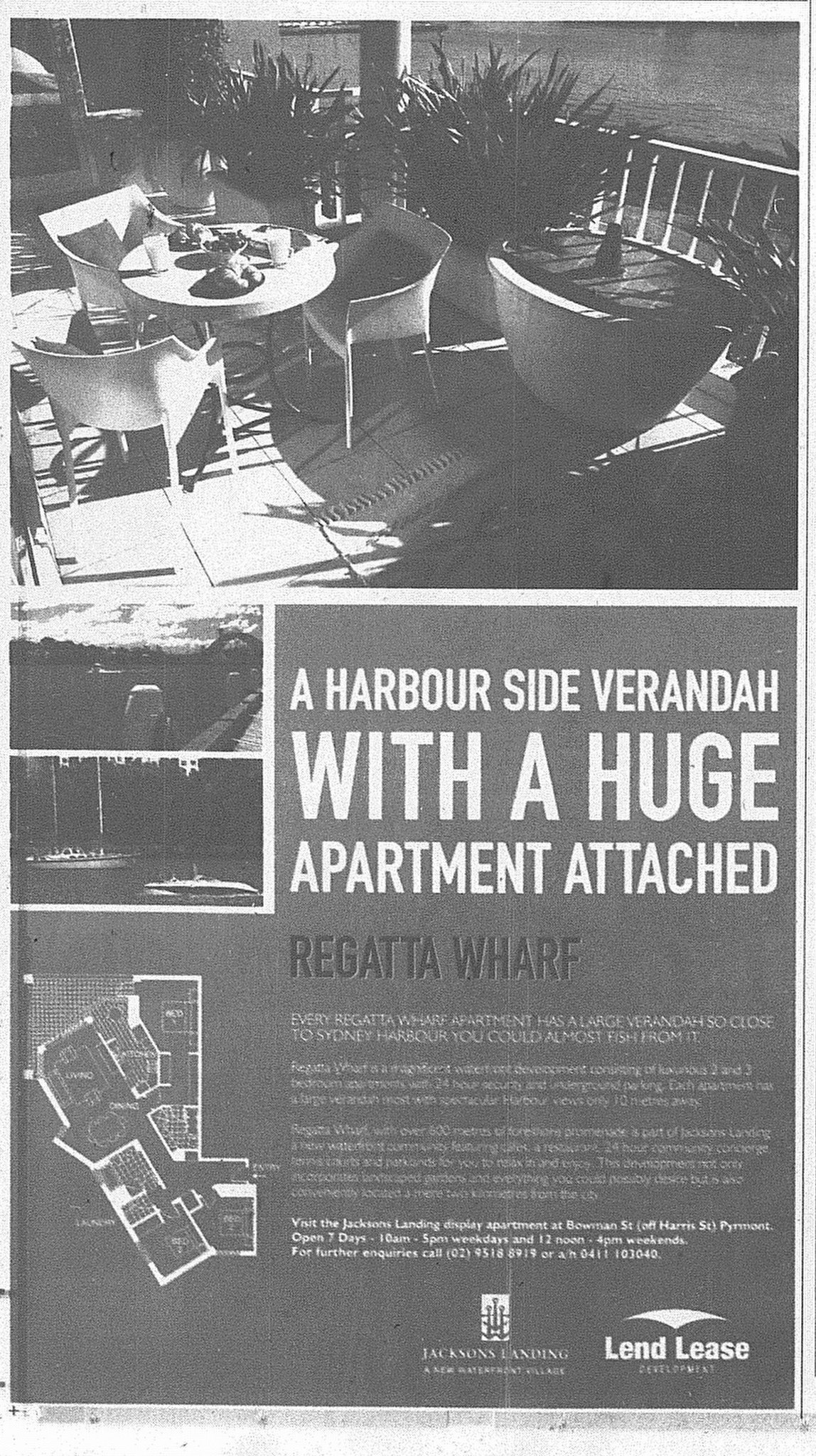 Regatta Wharf Ad June 5 1999 SMH 23RE