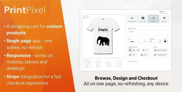Codecanyon PrintPixel - A shopping cart for custom products