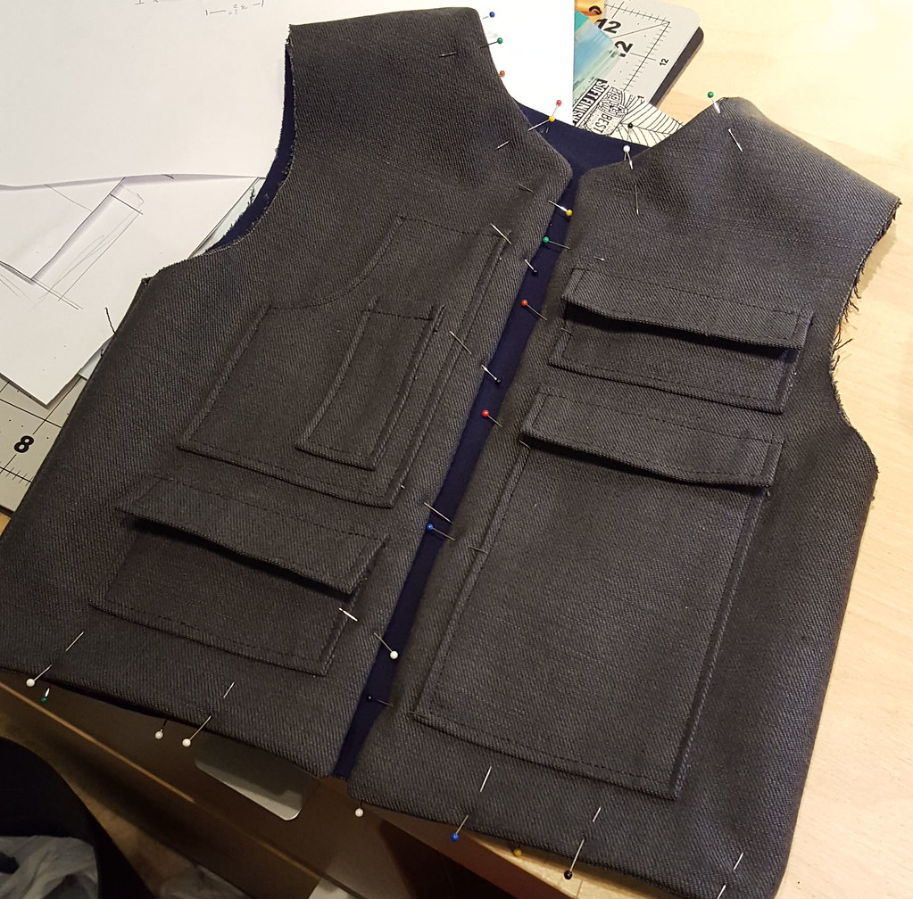 Woody Solo Costume in Progress: Vest