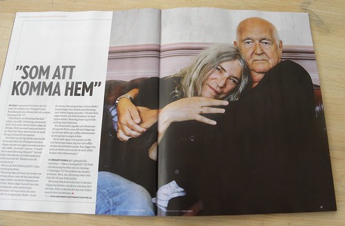 Patti Smith and Henning Mankell, by Casia Bromberg