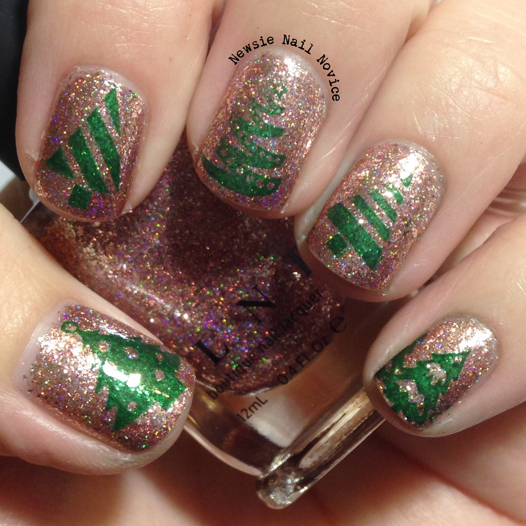 Lou Is Perfectly Polished Christmas Nails Christmas Trees: 12 Days Of Christmas Nail Art: Christmas Trees