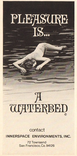 1970 Waterbed Advertisement Playboy May 1970
