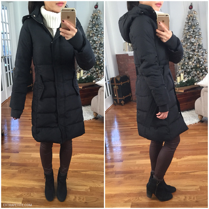 jcrew factory petite puffer coat review