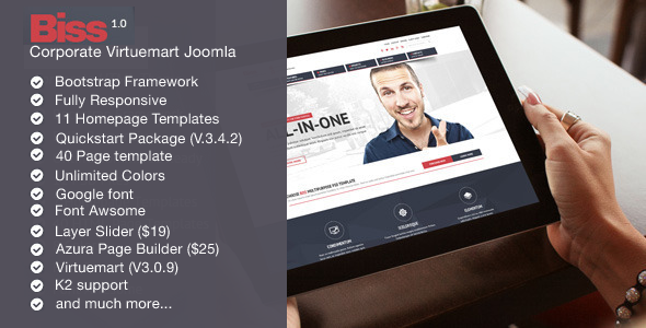 Biss v1.1 – Corporate Virtuemart Joomla Template