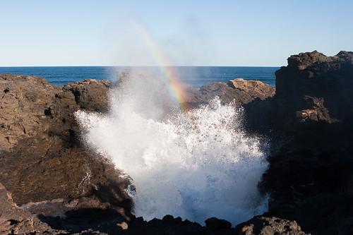 Kiama Blowhole with rainbow