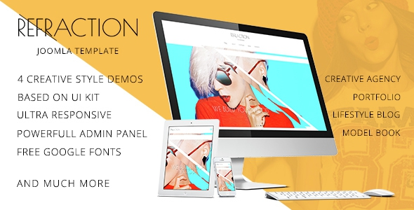 Refraction v1.0.0 - Creative Agency and Blog Responsive Joomla Multipurpose Template with 4 Demo