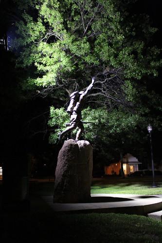 statue illinois nighttime warmemorial doughboy freeburg