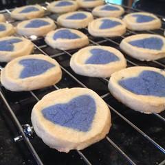 Ashlin made #cookies today. #Baking #frozen #Olaf #placeandbake #omnomnom.