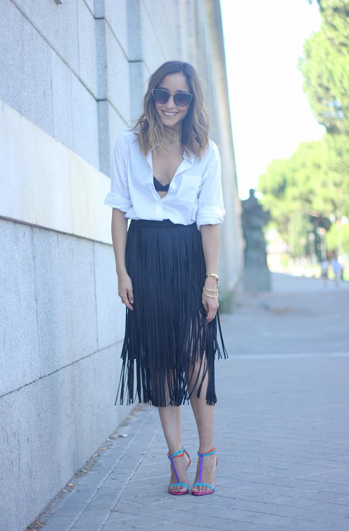 How To Wear Fringes Summer Outfit13