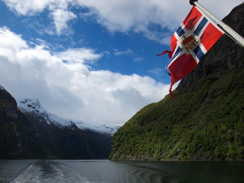 Sailing Geirangerfjord in Norway
