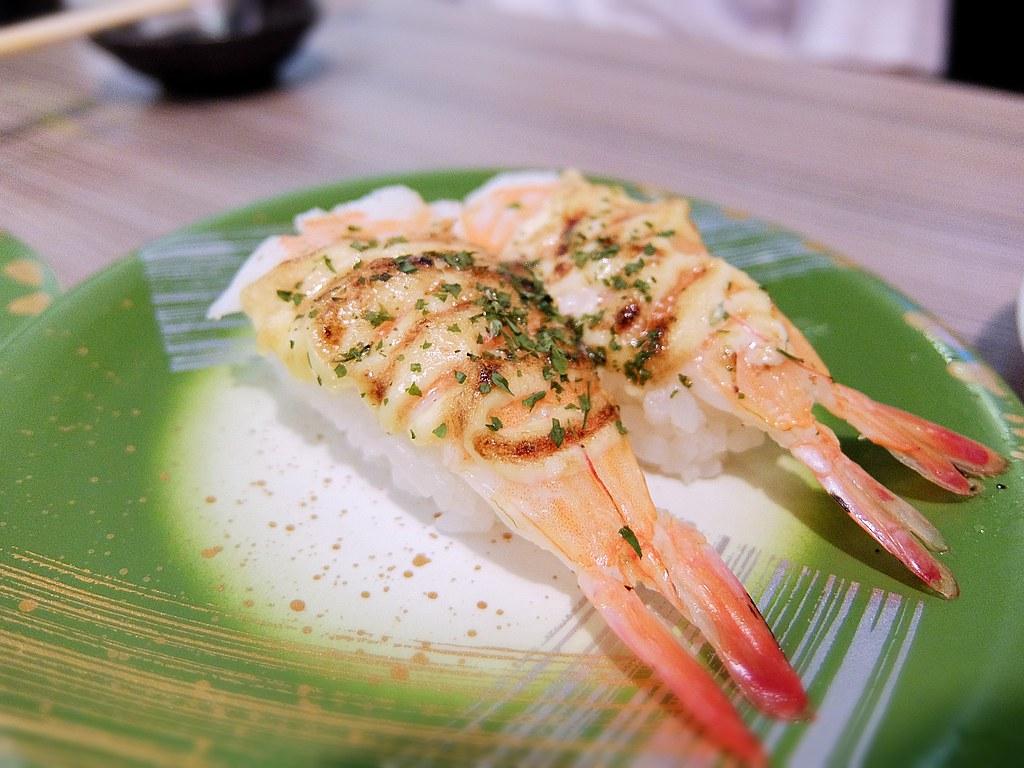 火炙蝦蛋黃醬,熟食,蝦子有先炙燒過....
